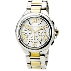 KORS Women's Camille Silver&Gold-Tone SS Watch